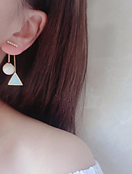 cheap -Women's Imitation Pearl Drop Earrings - Elegant / Fashion Black / Blue / Pink Triangle Earrings For Party / Daily