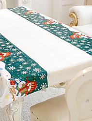 Недорогие -снеговик узор рождественские льняные скатерти посуда домашнее украшение