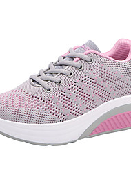 Women's Shoes Breathable Mesh Fabric Spring Summer Comfort Sneakers Creepers Round Toe Closed Toe Lace-up For Casual Outdoor Blushing