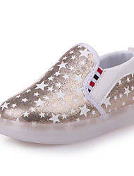 cheap -Girls' Shoes PU Fall Winter Comfort Sneakers For Casual Blushing Pink Silver Gold