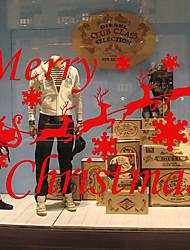 Недорогие -Животные Рождество Слова и фразы Наклейки Простые наклейки Декоративные наклейки на стены, Винил Украшение дома Наклейка на стену Стена