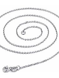 preiswerte -Damen Klassisch Grundlegend Ketten Schmuck Sterling Silber Ketten . Ausgehen