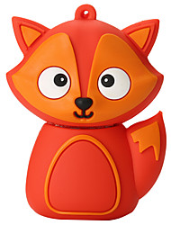 cheap -Cartoon Silicone Fox High Speed Shockproof 64GB USB 2.0 Flash Drive U Disk Memory Disk