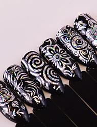 Недорогие -1 Стикер искусства ногтя Блеск С рисунком Аксессуары Блестящие Уход Ар деко / Ретро Вспышка Компоненты для самостоятельного изготовления