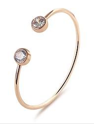 abordables -Femme Zircon Plaqué or Bracelets de tennis - Or Argent Bracelet Pour Mariage Bureau et carrière