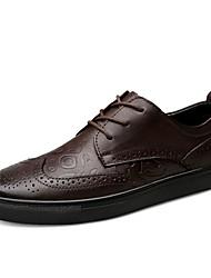 Недорогие -Муж. обувь Кожа / Наппа Leather Осень / Зима Удобная обувь / Формальная обувь Кеды Черный / Темно-коричневый / Для вечеринки / ужина