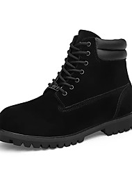 cheap -Men's Shoes PU Fall Winter Comfort Boots Lace-up For Casual Office & Career Yellow Black