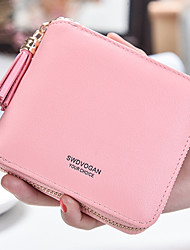 cheap -Women Bags PU Wallet Zipper for Shopping Casual All Seasons Red Blushing Pink Drak Red Purple Fuchsia