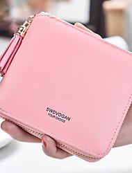 cheap -Women's Bags PU Wallet Zipper for Shopping Casual All Seasons Red Blushing Pink Drak Red Purple Fuchsia