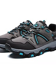 cheap -Men's Shoes PU Spring Fall Light Soles Athletic Shoes Hiking Shoes Lace-up For Athletic Black Gray Brown Army Green