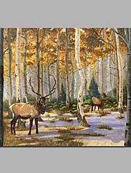 renne dans la forêt 100% peint à la main peintures à l'huile contemporaines art moderne art mural pour la décoration de la chambre