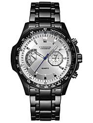 cheap -CURREN Men's Wrist watch Fashion Watch Sport Watch Quartz Hot Sale Stainless Steel Band Luxury Casual Cool Black