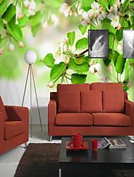abordables -Motif 3D Fleur Décoration d'intérieur Rustique Revêtement, Toile Matériel adhésif requis Mural, Couvre Mur Chambre