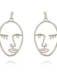 cheap -Women's Hoop Earrings Geometric Fashion Alloy Jewelry Casual Street Costume Jewelry
