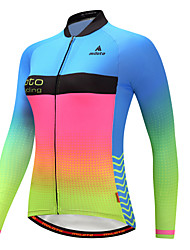cheap -Miloto Cycling Jersey Women's Long Sleeves Bike Jersey Reflective Strip Autumn/Fall Winter Cycling Luminous