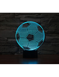 1 Set, Home Bedroom Acrylic 3D Night Light LED Lamp USB Mood Lamp, Available Battery, Colorful, 3W, Soccer