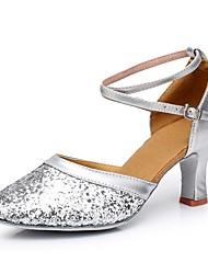 economico -Da donna Danza moderna Paillette Tacchi Per interni Tacco su misura Oro Argento Rosso Personalizzabile