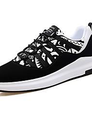 Femme Chaussures Tissu Printemps Automne Confort Basket Bout rond Lacet Pour Noir Arc-en-ciel