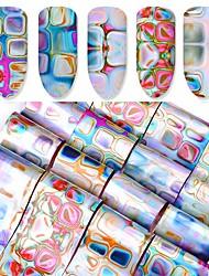 16 Adesivi per manicure Cosmetici e trucchi Fantasie design per manicure