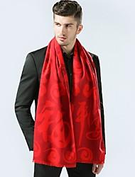 Men Imitation Cashmere Rectangle Plaid Winter All Seasons