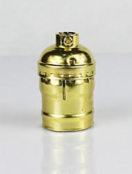 Недорогие -e26 золотой алюминиевый корпус антикварный винт edison подвеска лампа нет переключатель лампа держатель