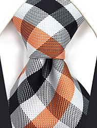 economico -Per uomo Cravatta - Seta A scacchi