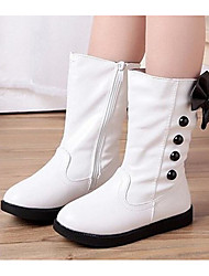 cheap -Girls' Shoes PU Winter Comfort / Fashion Boots Boots for White / Black / Red