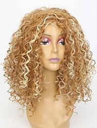 Femme Perruque Synthétique Long Blond Fraise / Blond Platine Au Milieu Perruque Naturelle Perruque Déguisement