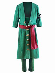 cheap -Inspired by One Piece Roronoa Zoro Anime Cosplay Costumes Cosplay Suits Solid Colored Coat Pants For Men's