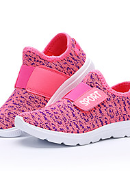 cheap -Girls' Shoes Knit Fabric Net Fall Winter Vulcanized Shoes Comfort Athletic Shoes Running Shoes Magic Tape Lace-up For Athletic Casual