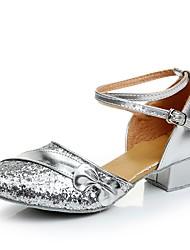 Da donna Scarpe da ballo bambino Brillantini Sandali Tacchi Sneaker Addestramento Brillantini Quadrato Oro Bianco Argento Fucsia Rosso