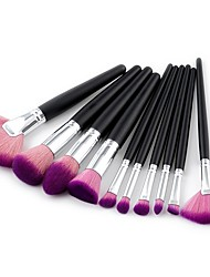 abordables -10pcs Pinceles de maquillaje Profesional Sistemas de cepillo / Cepillo para Colorete / Pincel para Sombra de Ojos Pelo Sintético
