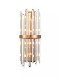 cheap -40 E14 E12 Crystal Simple Modern/Contemporary Electroplate Feature for Crystal LED Bulb Included,Ambient Light Wall Sconces Wall Light