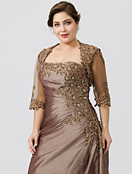 cheap -Half Sleeves Lace Tulle Wedding Party / Evening Women's Wrap With Appliques Lace Shrugs
