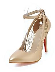 abordables -Femme Chaussures Similicuir Automne Confort / Nouveauté Chaussures à Talons Bout pointu Blanc / Noir / Rose / Mariage