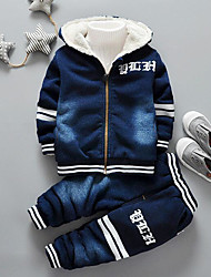 cheap -Boys' Solid Clothing Set,Cotton Winter Fall Navy Blue