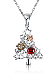 Women's Pendant Necklaces Chain Necklaces Cubic Zirconia Geometric Tree of Life Zircon Copper Fashion Personalized Jewelry For Gift