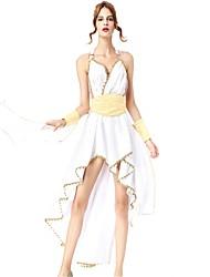 baratos -Queen Deusa Athena Vestidos Fantasias de Cosplay Baile de Máscara Mulheres Dia Das Bruxas Carnaval Ano Novo Festival / Celebração Trajes