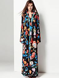 cheap -Mary Yan & Yu Women's Cute Street chic Boho Jalabiya Dress - Floral Maxi V Neck