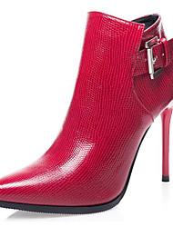 preiswerte -Damen Schuhe PU Frühling Herbst Pumps Stiefel Creepers Spitze Zehe Booties / Stiefeletten Für Normal Schwarz Grau Rot