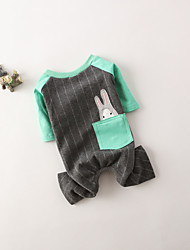 cheap -Dog Sweatshirt Dog Clothes Rabbit/Bunny Gray Pink Cotton Costume For Pets Casual/Daily