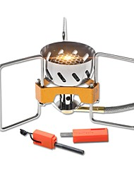 Camping Burner Stove Single Stainless Steel Cooper for Picnic Camping & Hiking BBQ
