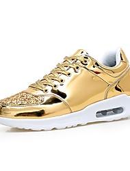 economico -Da uomo Scarpe Vernice Primavera Autunno Comoda scarpe da ginnastica Footing Lacci Per Sportivo Oro Nero Argento