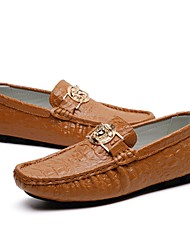 cheap -Men's Shoes Leather Spring / Fall Driving Shoes Loafers & Slip-Ons Brown / Green / Blue