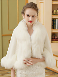 cheap -Faux Fur Wedding Party / Evening Women's Wrap With Fur Coats / Jackets