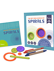 cheap -Spirograph Design Ruler Educational Toy Art & Drawing Toy Toys Floral Theme Fun Children's 1 Pieces