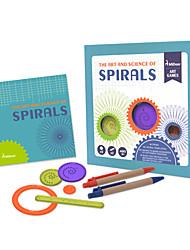 cheap -Spirograph Design Ruler Educational Toy Floral Theme Fun Kid's Gift 1pcs
