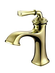 cheap -Contemporary Luxury Centerset High Quality Ceramic Valve Single Handle One Hole Ti-PVD, Bathroom Sink Faucet