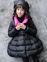 cheap -Girls' Solid Down & Cotton Padded,Polyester Winter Fall Long Sleeve Black Purple