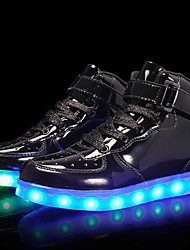 cheap -Boys' Shoes Customized Materials Patent Leather Winter Spring Light Up Shoes Comfort Sneakers LED Hook & Loop Lace-up for Casual Outdoor